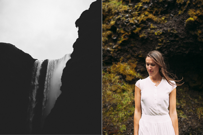 bride skogafoss waterfall iceland