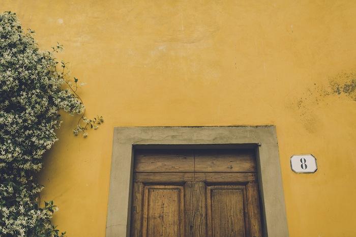 old door wood yellow firenze