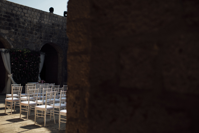 chairs ceremony fort lovrijenac