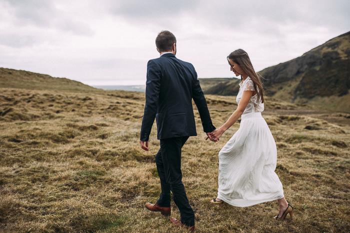 bride groom landscape skogafoss
