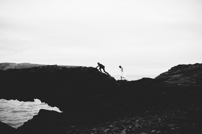 black and white couple iceland