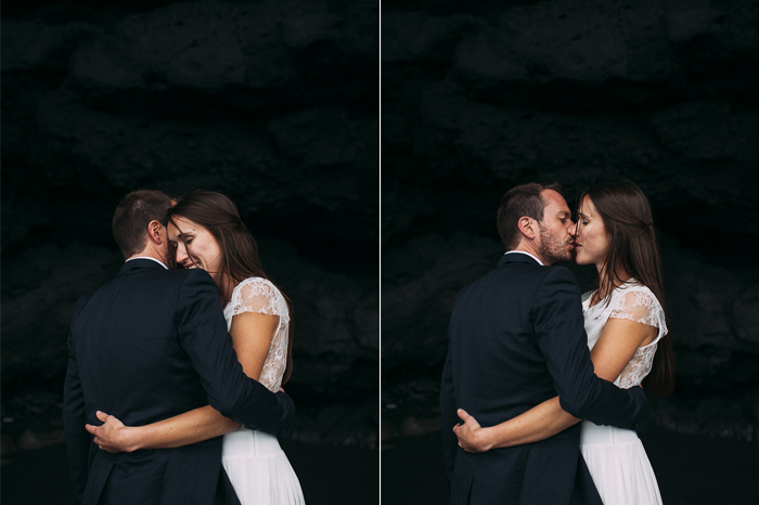iceland cave couple wedding