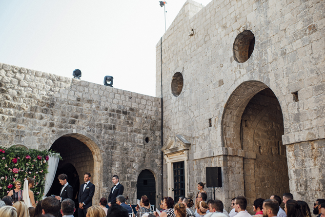 wedding ceremony fort lovrijenac