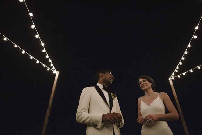 bride-and-groom-light-string-wedding